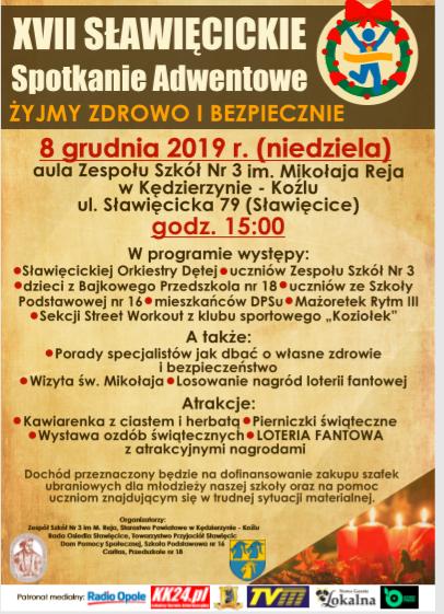 XVII Sławięcickie Spotkanie Adwentowe już w niedzielę (08.12)