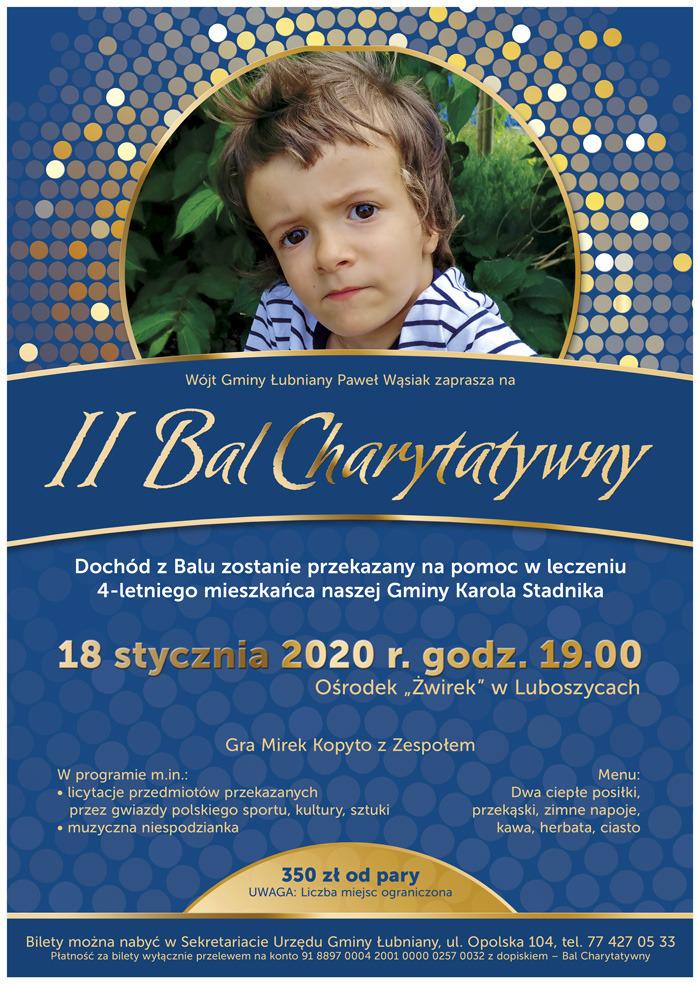 II Bal Charytatywny Wójta Gminy Łubniany już w sobotę – poznaj szczegóły! [materiały organizatora]