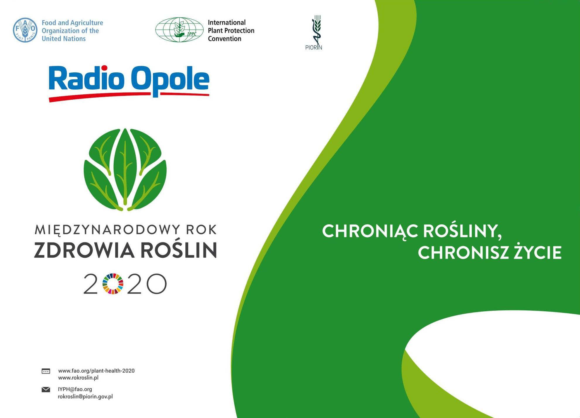 """""""Chroniąc rośliny, chronisz życie"""" – rok 2020 Międzynarodowym Rokiem Zdrowia Roślin [materiały organizatora]"""