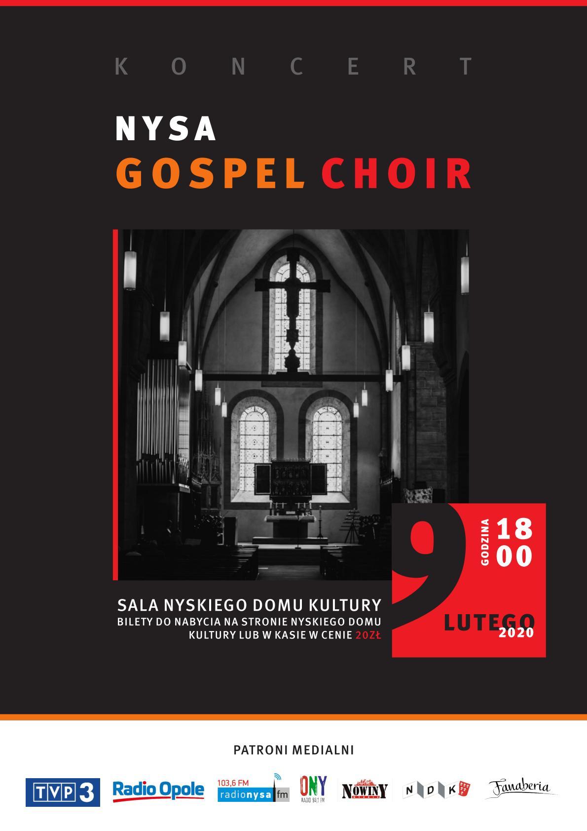 Koncert Nysa Gospel Choir już w niedzielę – poznaj szczegóły! [materiały organizatora]