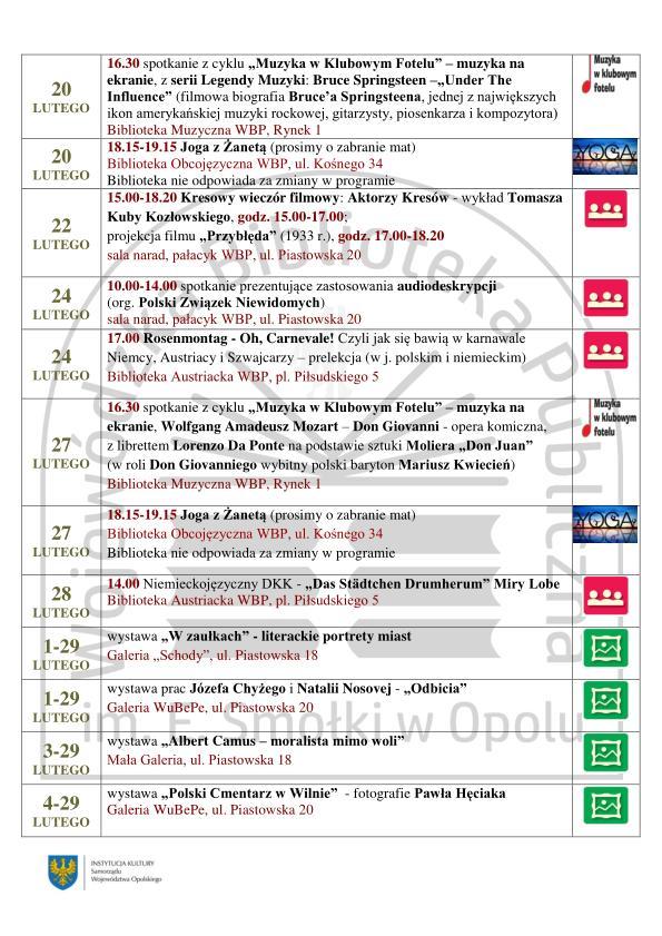 Sprawdź, co będzie działo się w Wojewódzkiej Bibliotece Publicznej w Opolu w lutym!