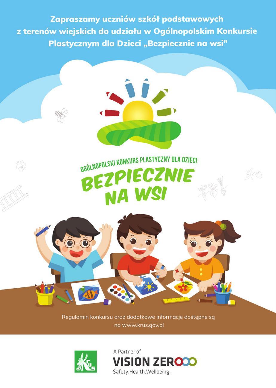 """Trwa X Ogólnopolski konkurs plastyczny dla dzieci pod hasłem """"Bezpiecznie na wsi: nie ryzykujesz, gdy zwierzęta znasz i szanujesz"""" – poznaj szczegóły! [materiały organizatora]"""
