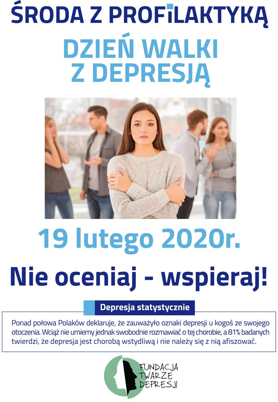 nfz depresja a3 plakat