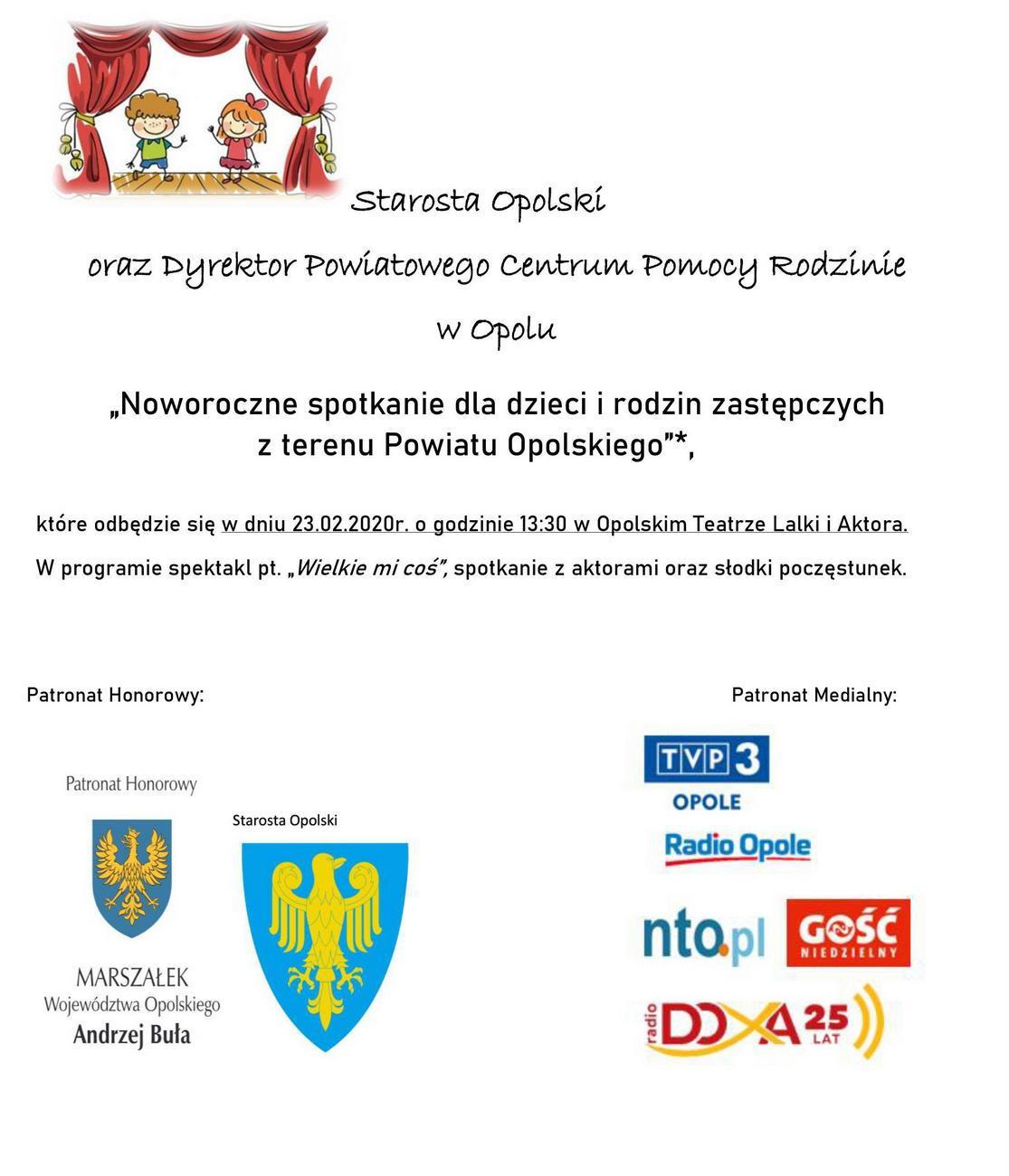 Noworoczne spotkanie dla dzieci i rodzin zastępczych z terenu powiatu opolskiego [materiały organizatora]
