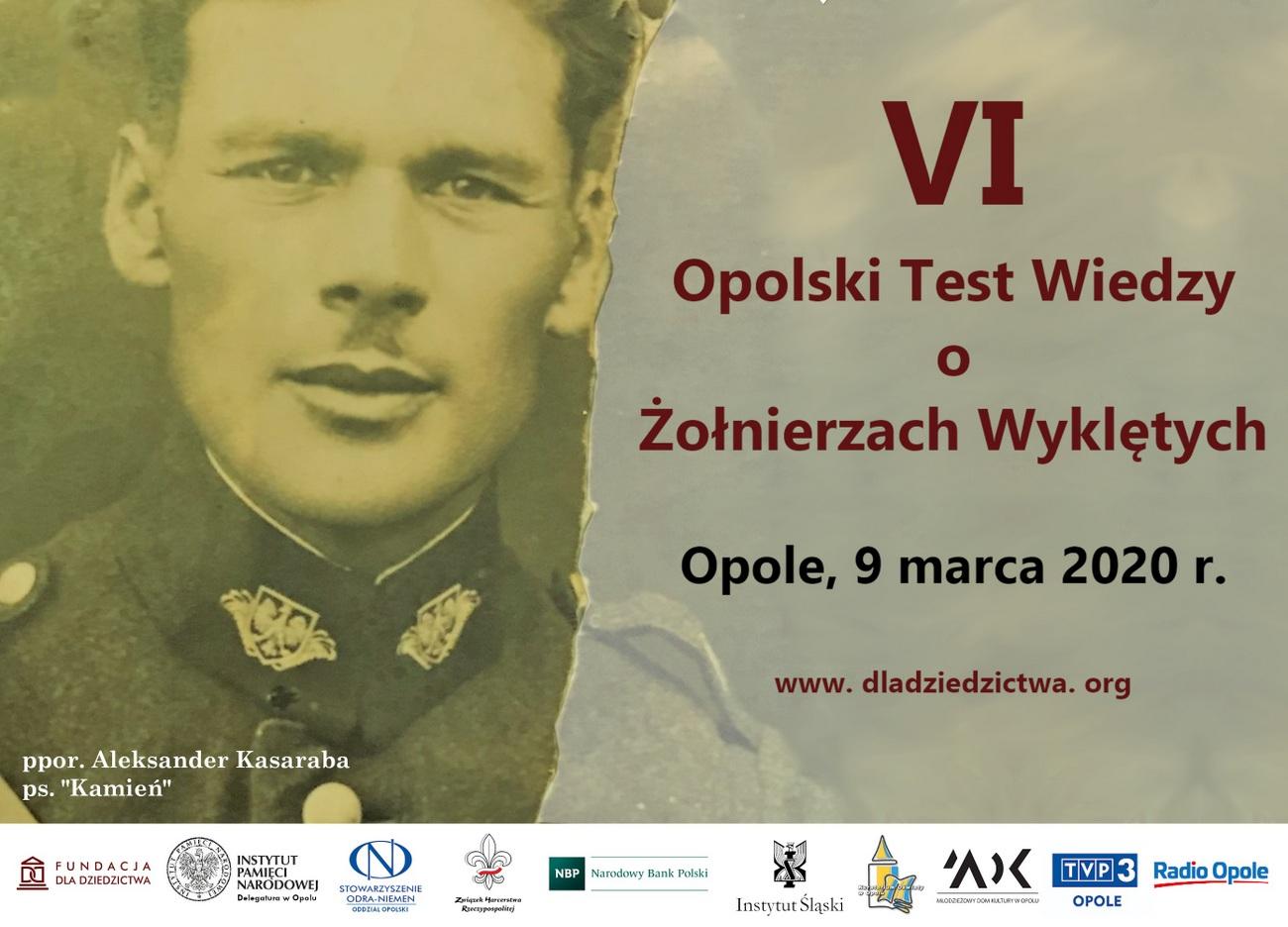 Zbliża się VI Opolski Test Wiedzy o Żołnierzach Wyklętych – poznaj szczegóły i zgłoś swój udział! [materiały organizatora]