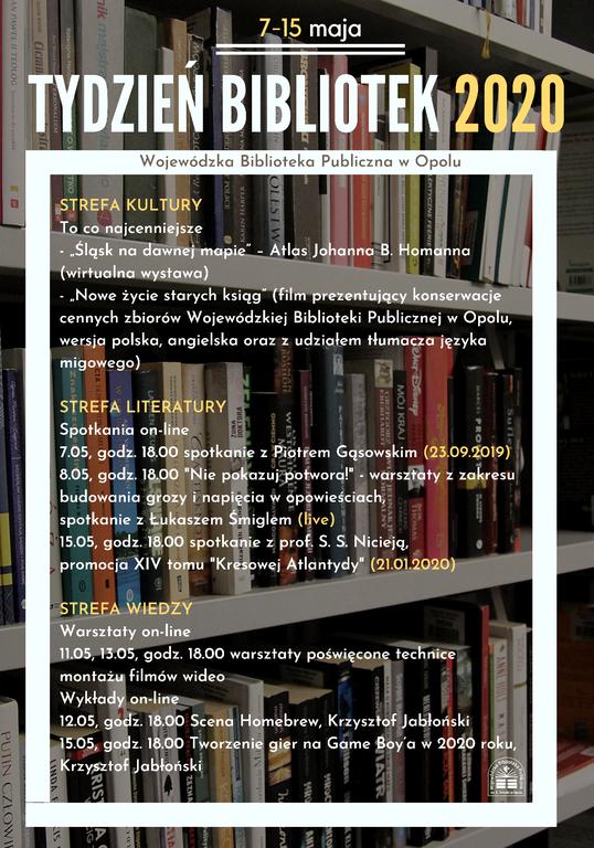 Na Tydzień Bibliotek zaprasza WBP w Opolu