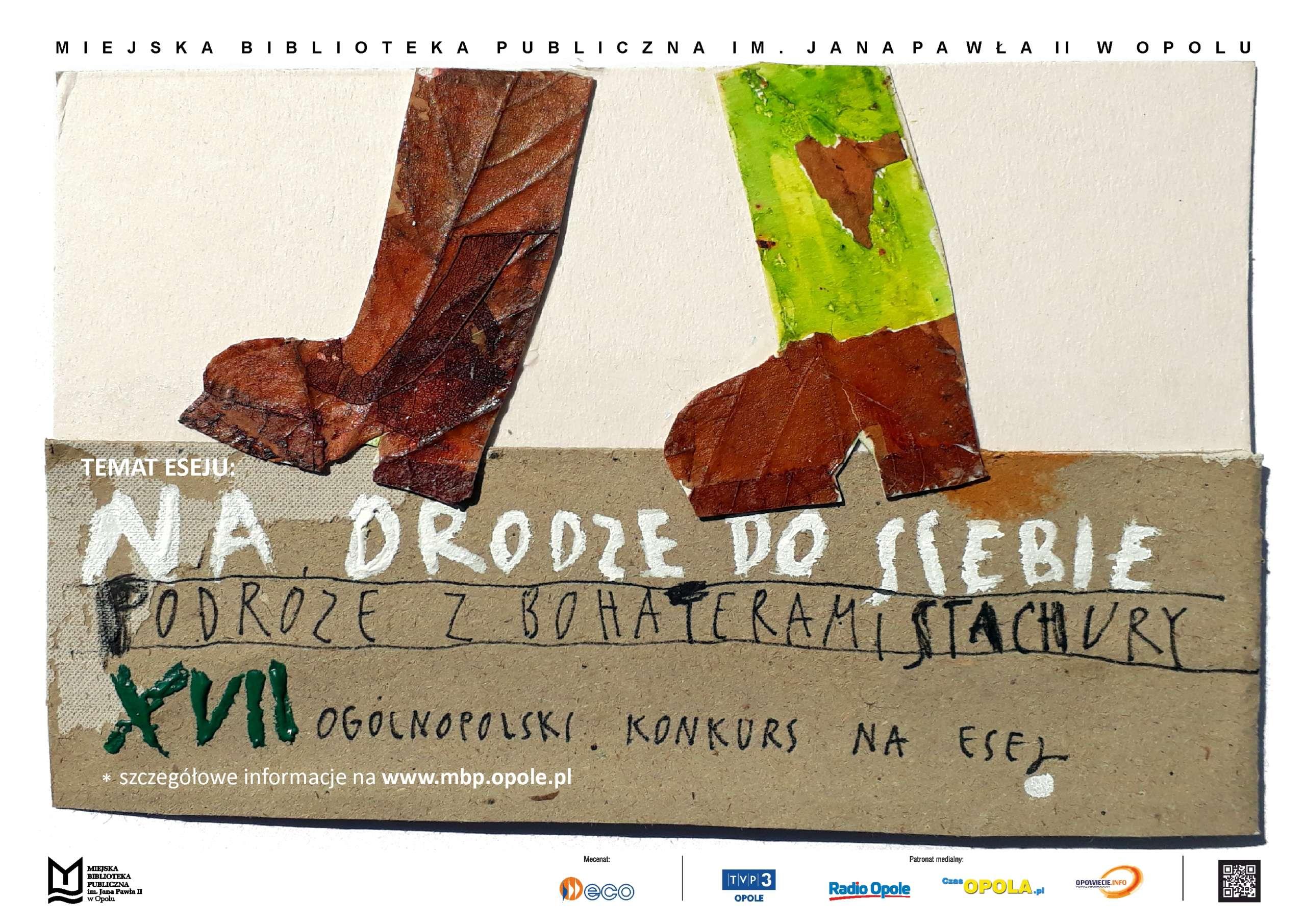 Plakat. XVII Ogólnopolski Konkurs na Esej