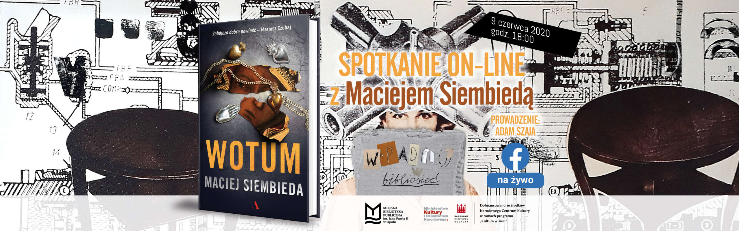 Spotkanie z Maciejem Siembiedą – zobacz transmisję!
