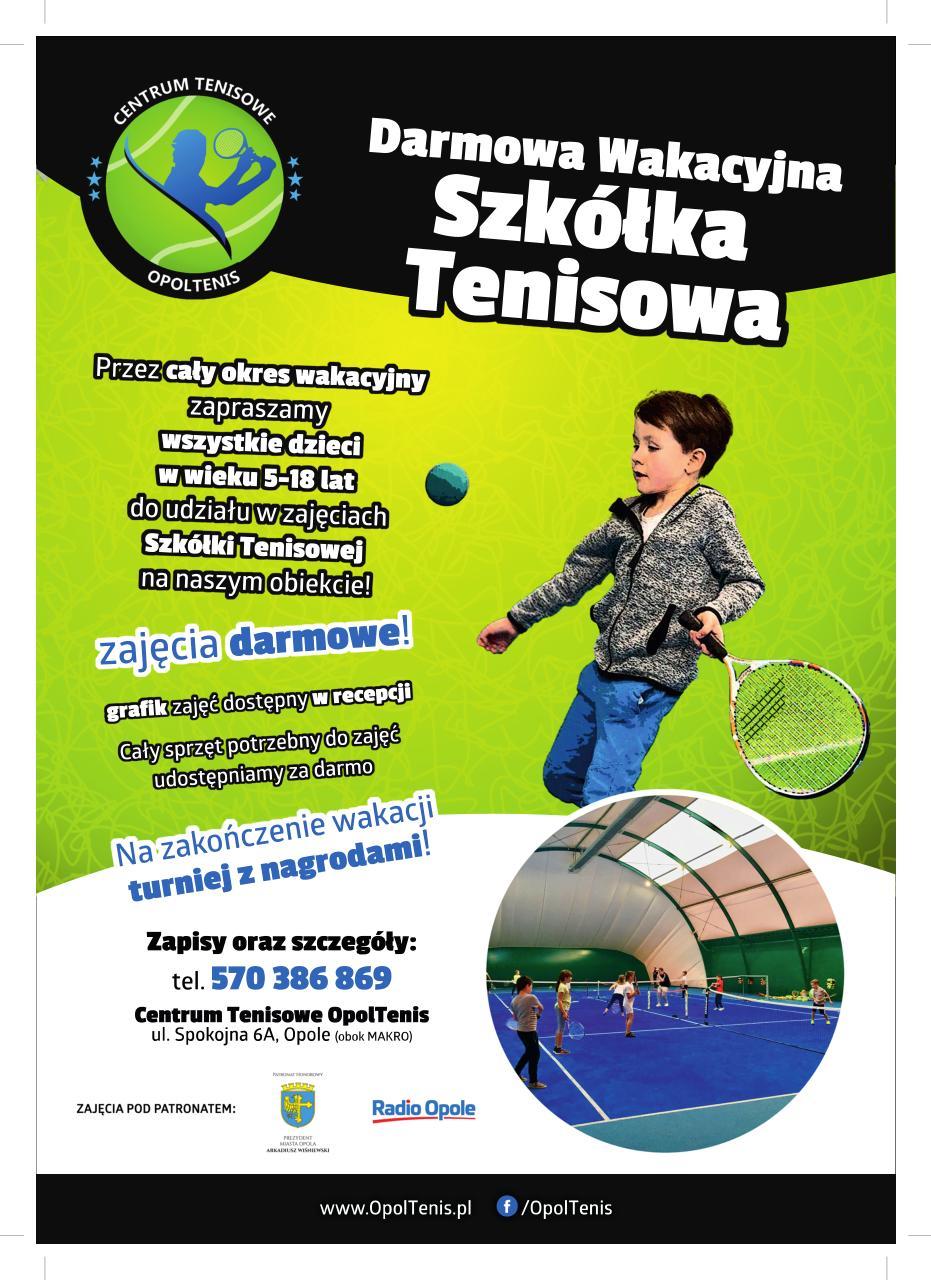 Startuje Darmowa Wakacyjna Szkółka Tenisowa – poznaj szczegóły i zapisz swoje dziecko!