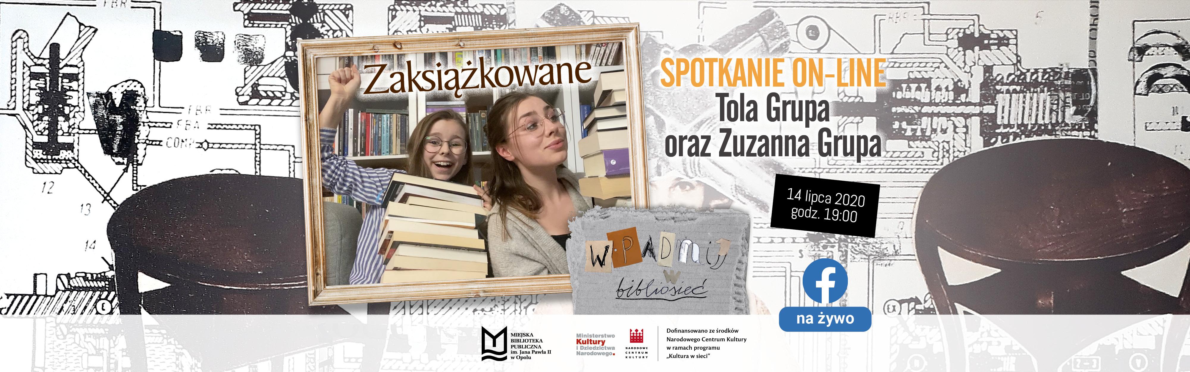 MBP w Opolu zaprasza na spotkanie on-line z youtuberkami: Tolą i Zuzą z kanału ZAKSIĄŻKOWANE