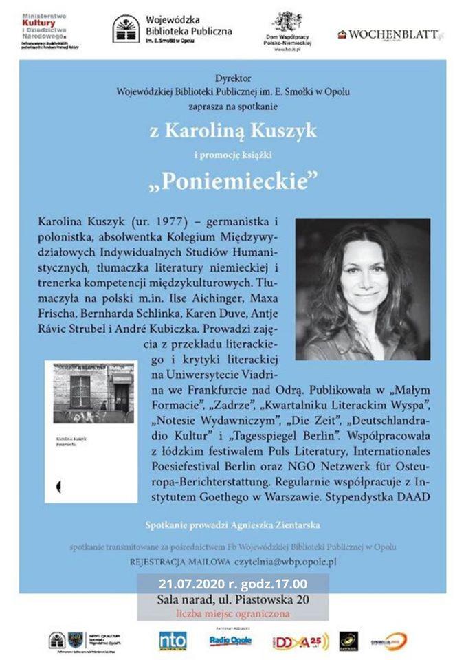 Na spotkanie z autorką książki 'Poniemieckie' zaprasza dziś WBP