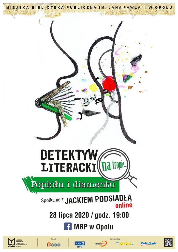 """""""Detektyw literacki na tropie…"""" – kolejne spotkanie z Jackiem Podsiadło już we wtorek (28.07) [materiały organizatora]"""