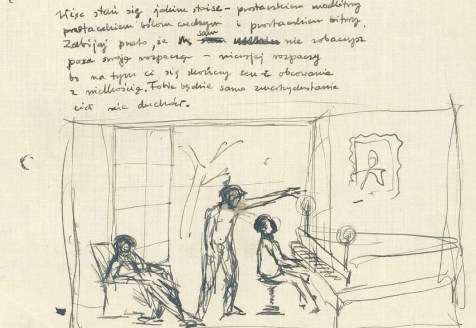 """Rękopis dzieła """"Pora gniewu"""" [fot. materiały RDC]"""