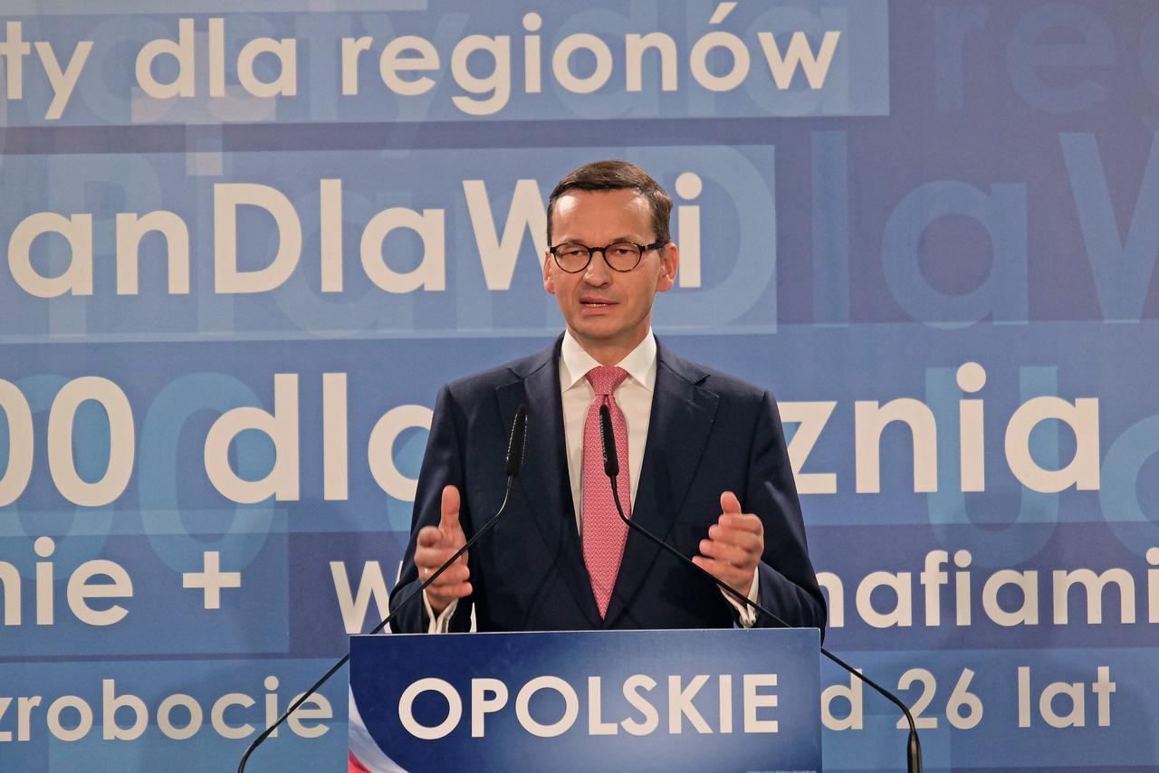 Mateusz Morawiecki, konwencja Prawa i Sprawiedliwości w Opolu [fot. Wanda Kownacka]