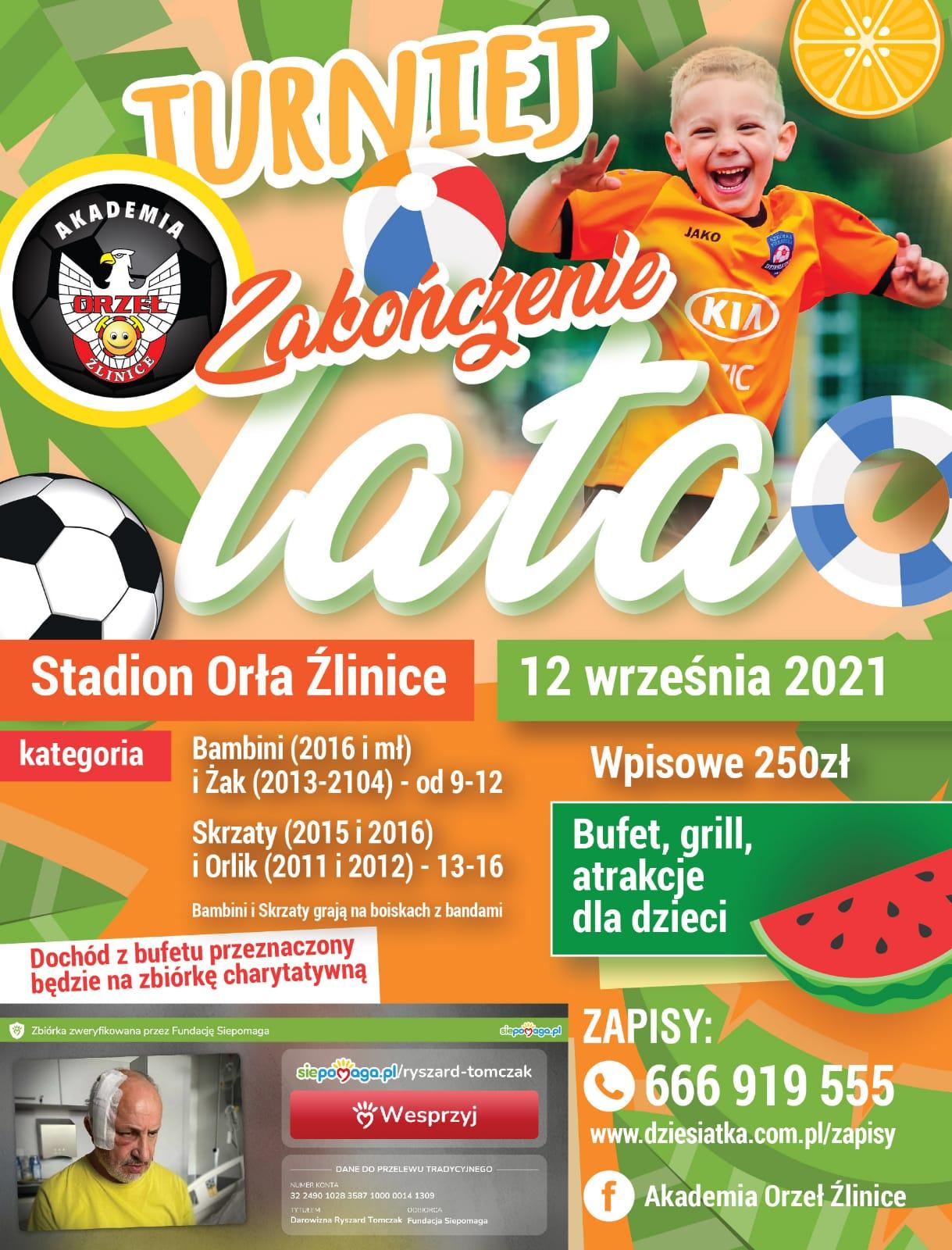Plakat piłkarskiego turnieju na zakończenie lata [materiały organizatora]