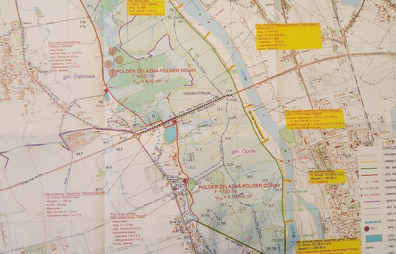Polder Żelazna na mapie [fot. Daria Placek]