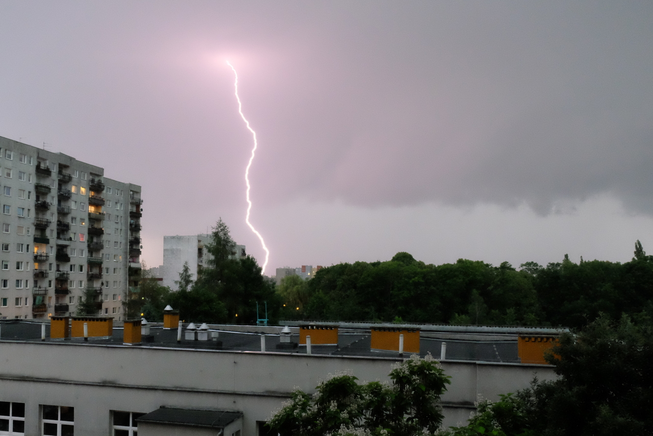Burza nad Opolem [Fot.Wanda Kownacka]