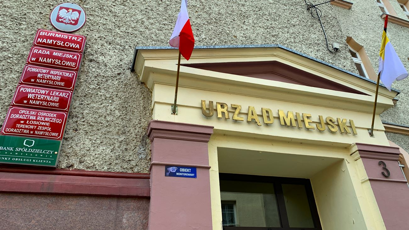 Urząd Miejski w Namysłowie [fot. Daniel Klimczak]