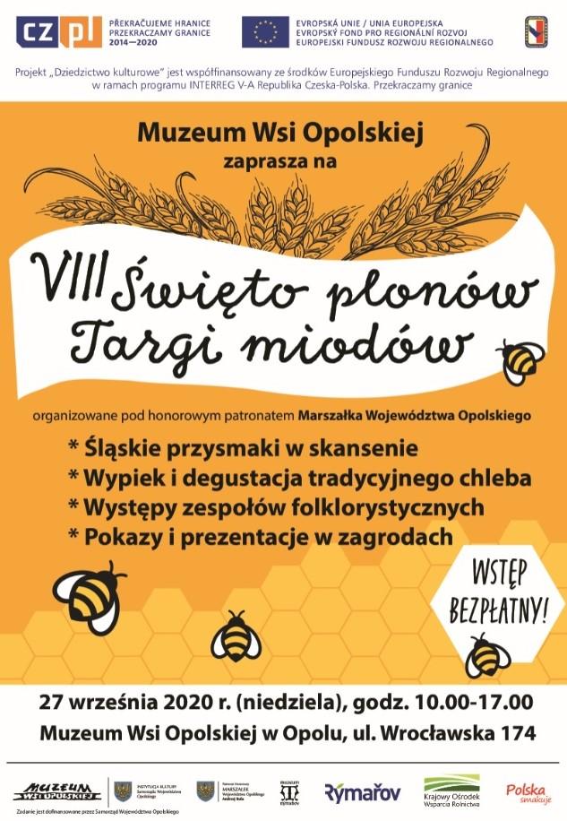 VIII Święto Plonów.Targi Miodów w Muzeum Wsi Opolskiej już w niedzielę