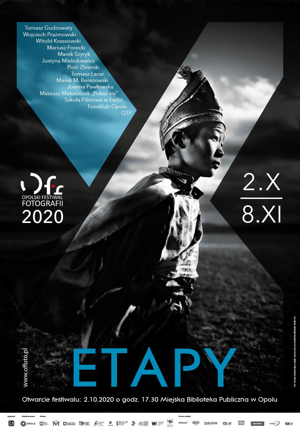 Plakat 10. OFF. Autorem fotografii na plakacie jest Tomasz Gudzowaty, a autorką projektu Justyna Surma