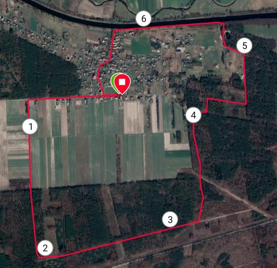 Trasa biegu głównego 7km