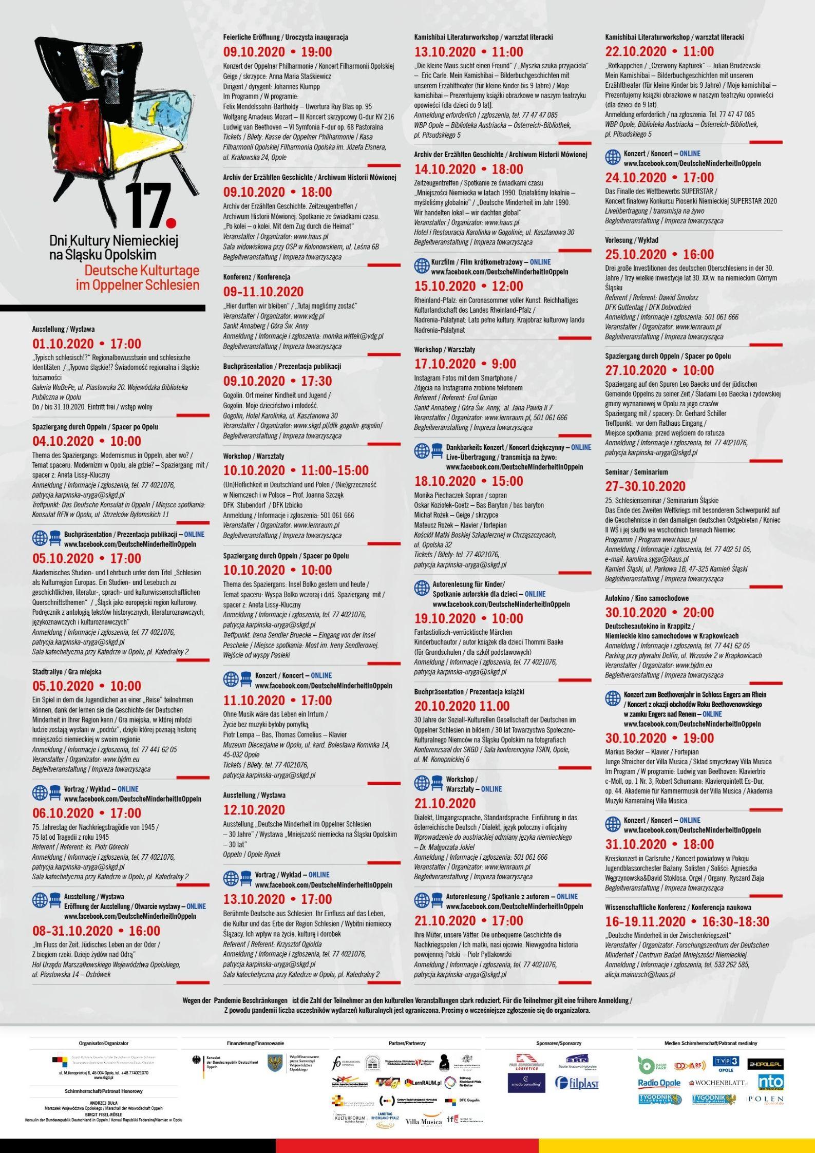 Plakat z programem 17. Dni Kultury Niemieckiej