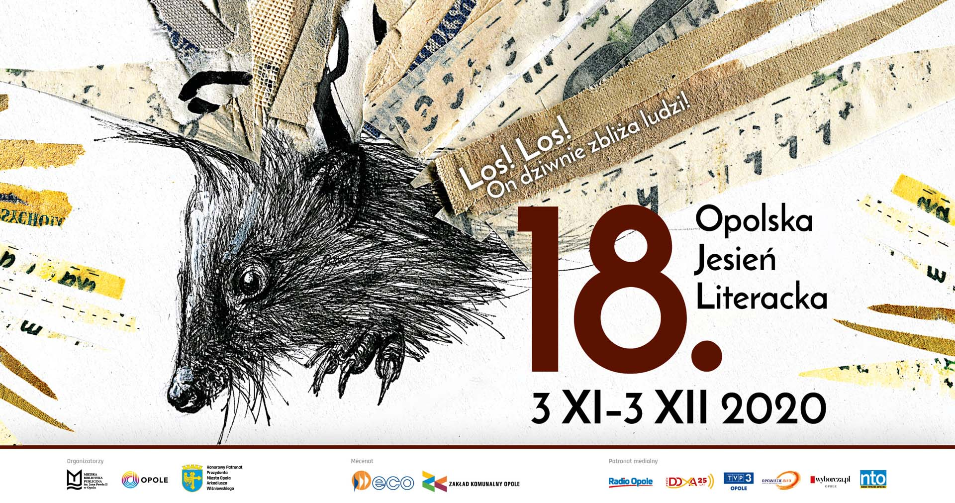 Plakat 18. Opolskiej Jesieni Literackiej