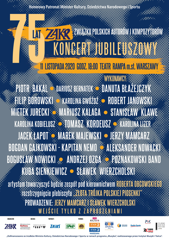 Koncert jubileuszowy 75 lat ZAKR