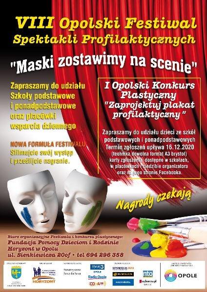 Plakat VIII Opolskiego Festiwalu Spektakli Profilaktycznych