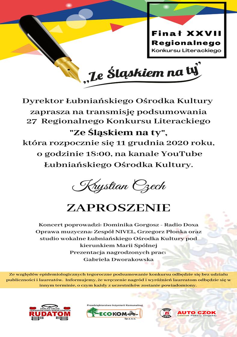 XXVII Regionalny Konkurs Literacki 'Ze Śląskiem na Ty'