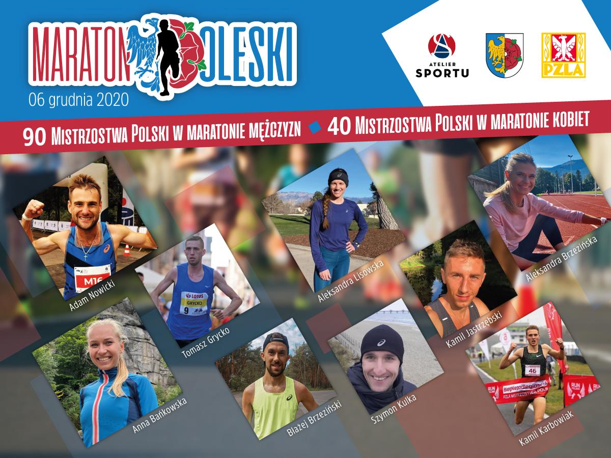 Plakat. Olesno gospodarzem Mistrzostw Polski w maratonie!