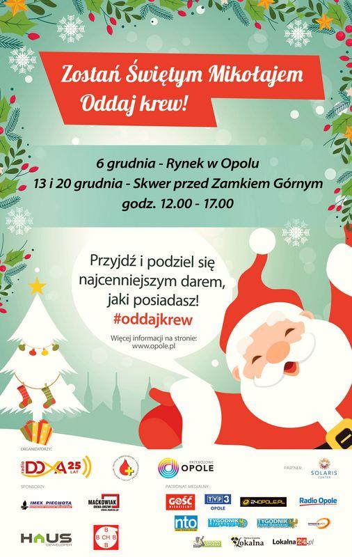 Akcja 'Zostań Świętym Mikołajem - oddaj krew'