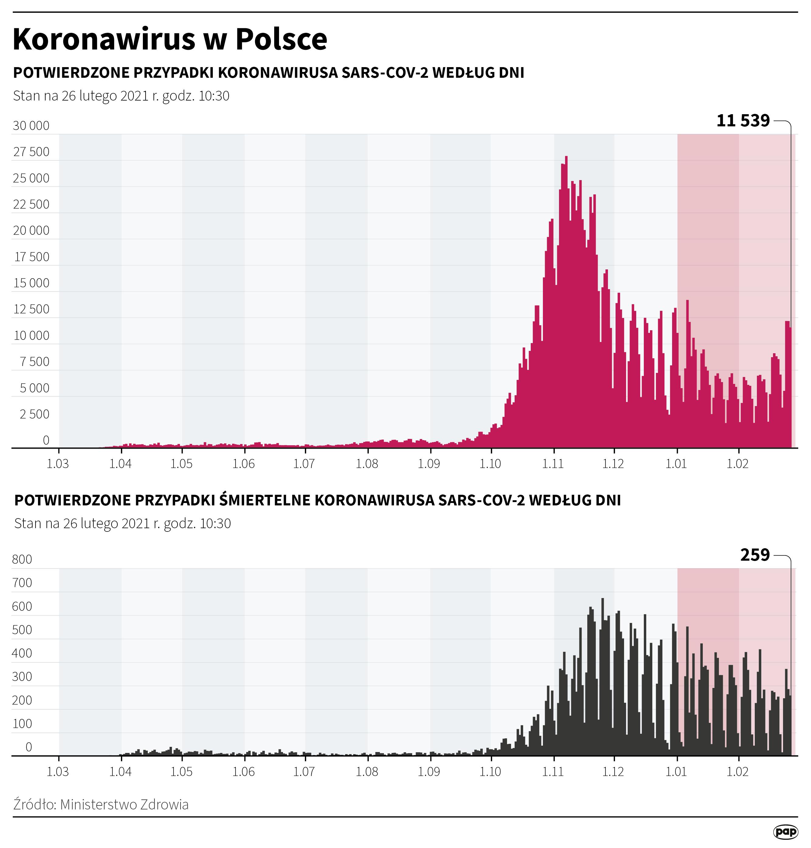 Koronawirus w Polsce stan na 26 lutego [autor: Maria Samczuk, źródło: PAP]