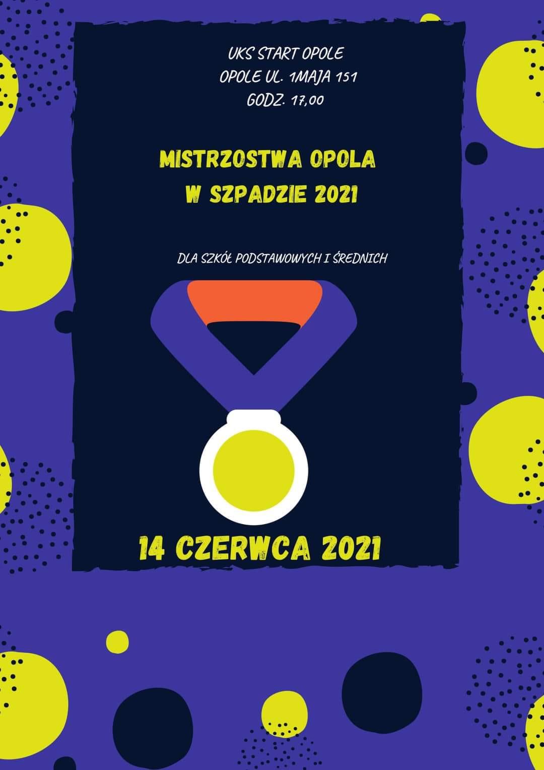 Mistrzostwa Opola w Szpadzie 2021 [materiały organizatora]
