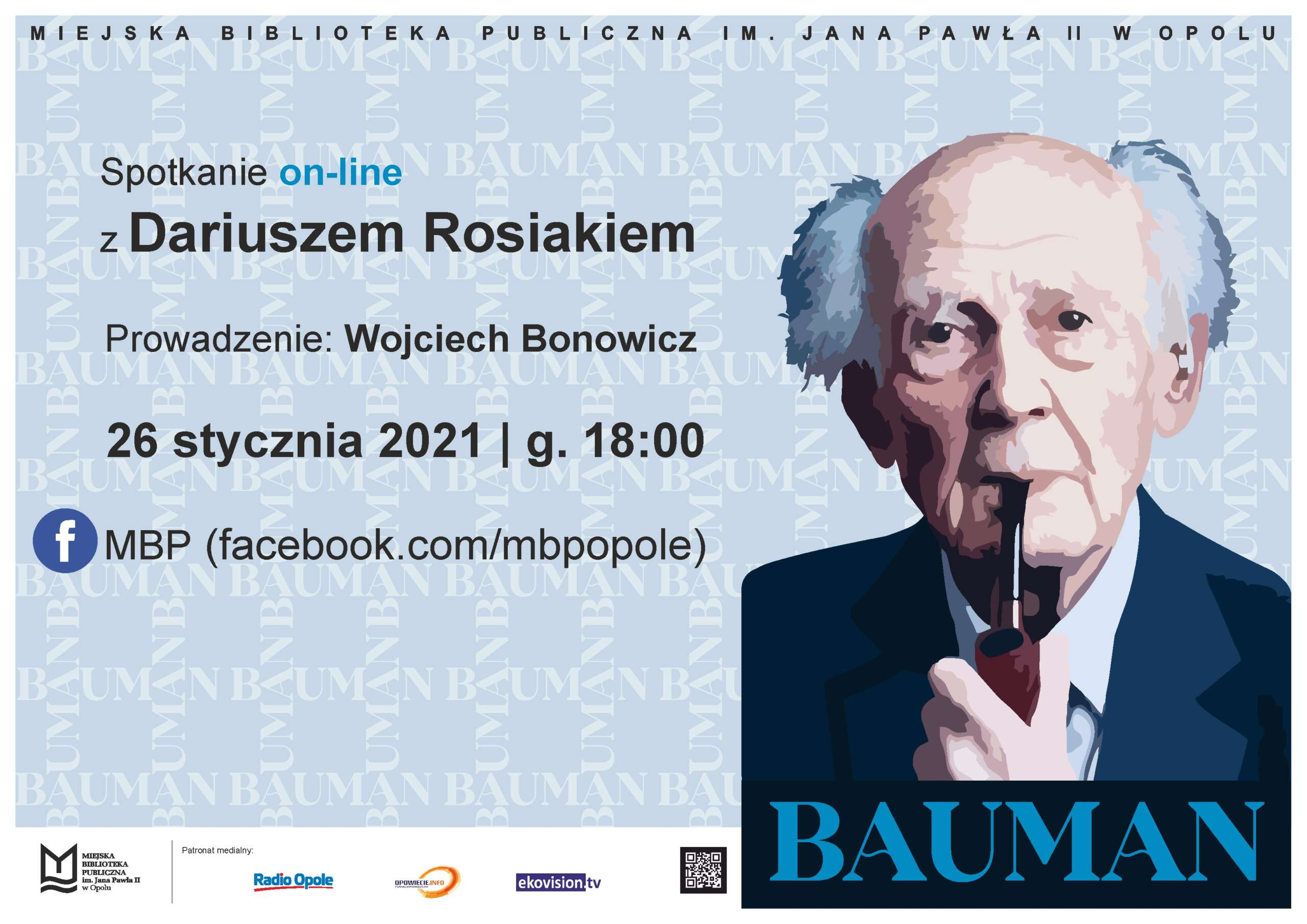 Zygmunt Bauman bohaterem spotkania z Dariuszem Rosiakiem