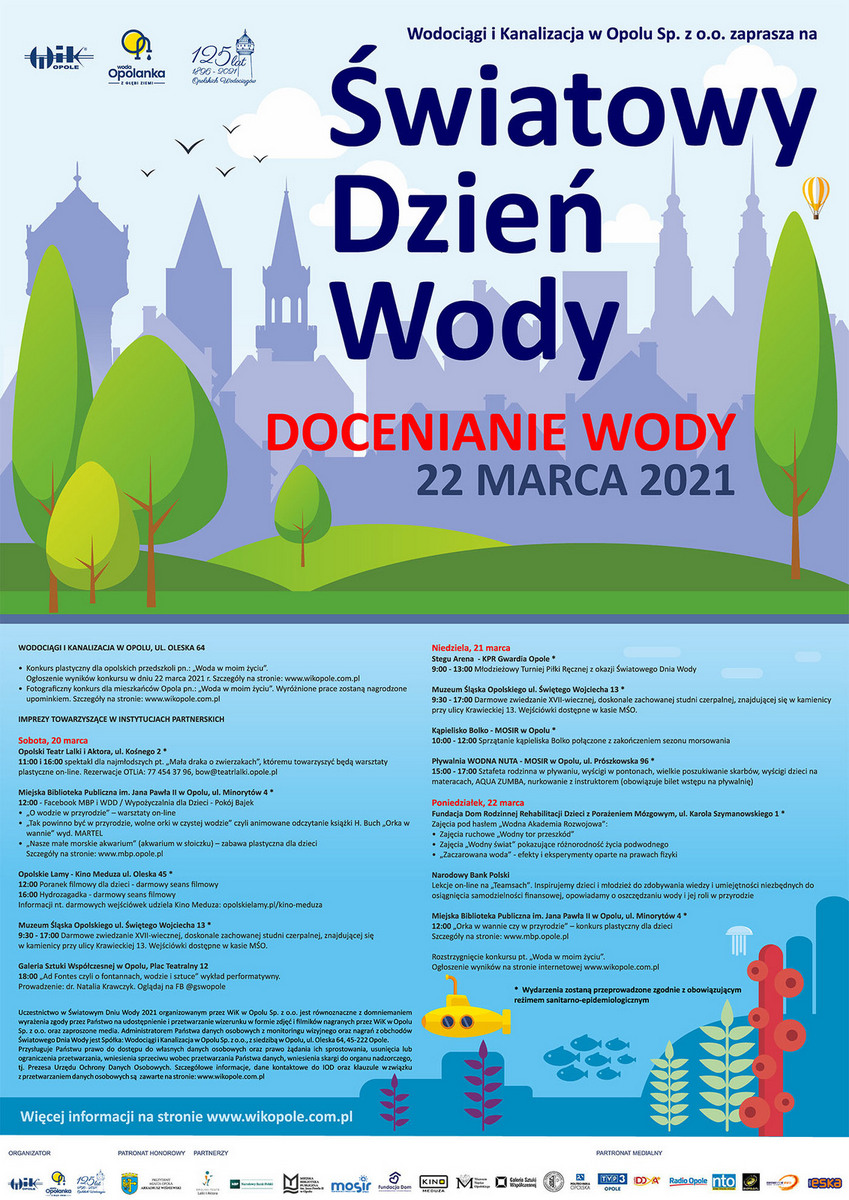Na Światowy Dzień Wody 2021 zaprasza WiK Opole