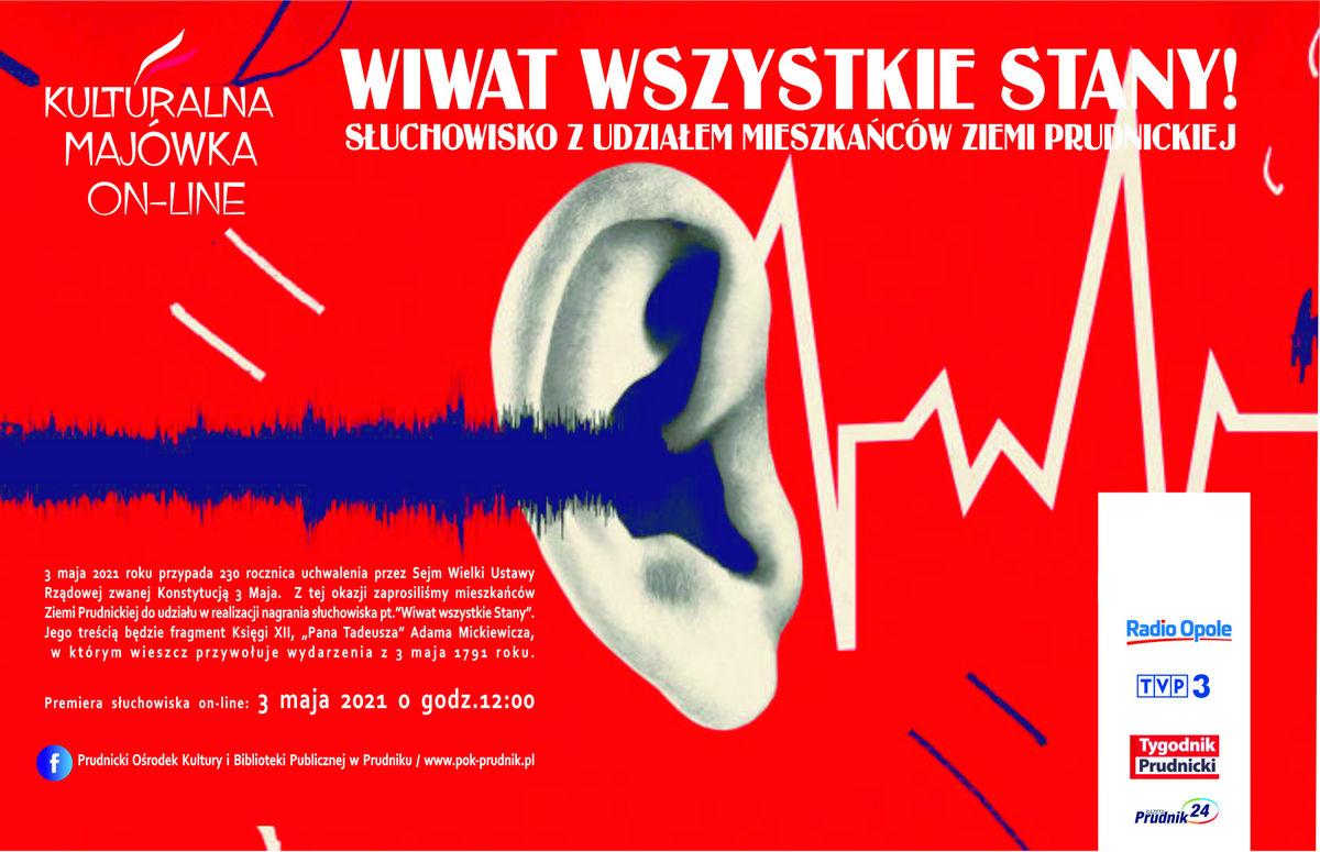 Plakat zapraszający do wysłuchania słuchowiska