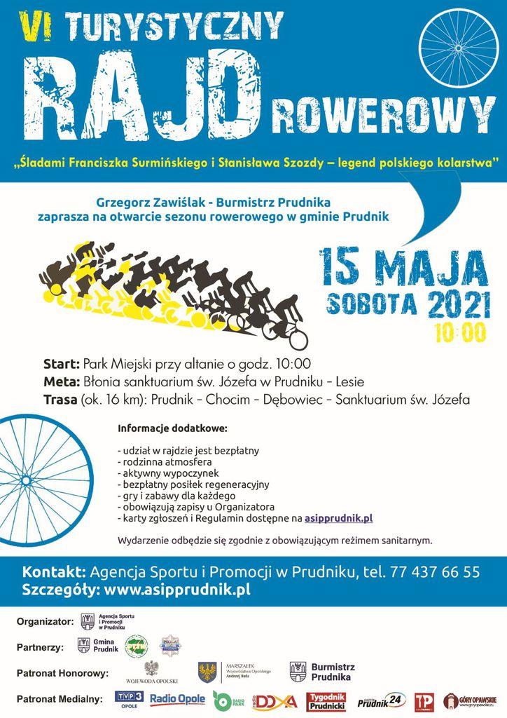 """Plakat VI Turystycznego Rajdu Rowerowego """"Śladami Franciszka Surmińskiego i Stanisława Szozdy"""