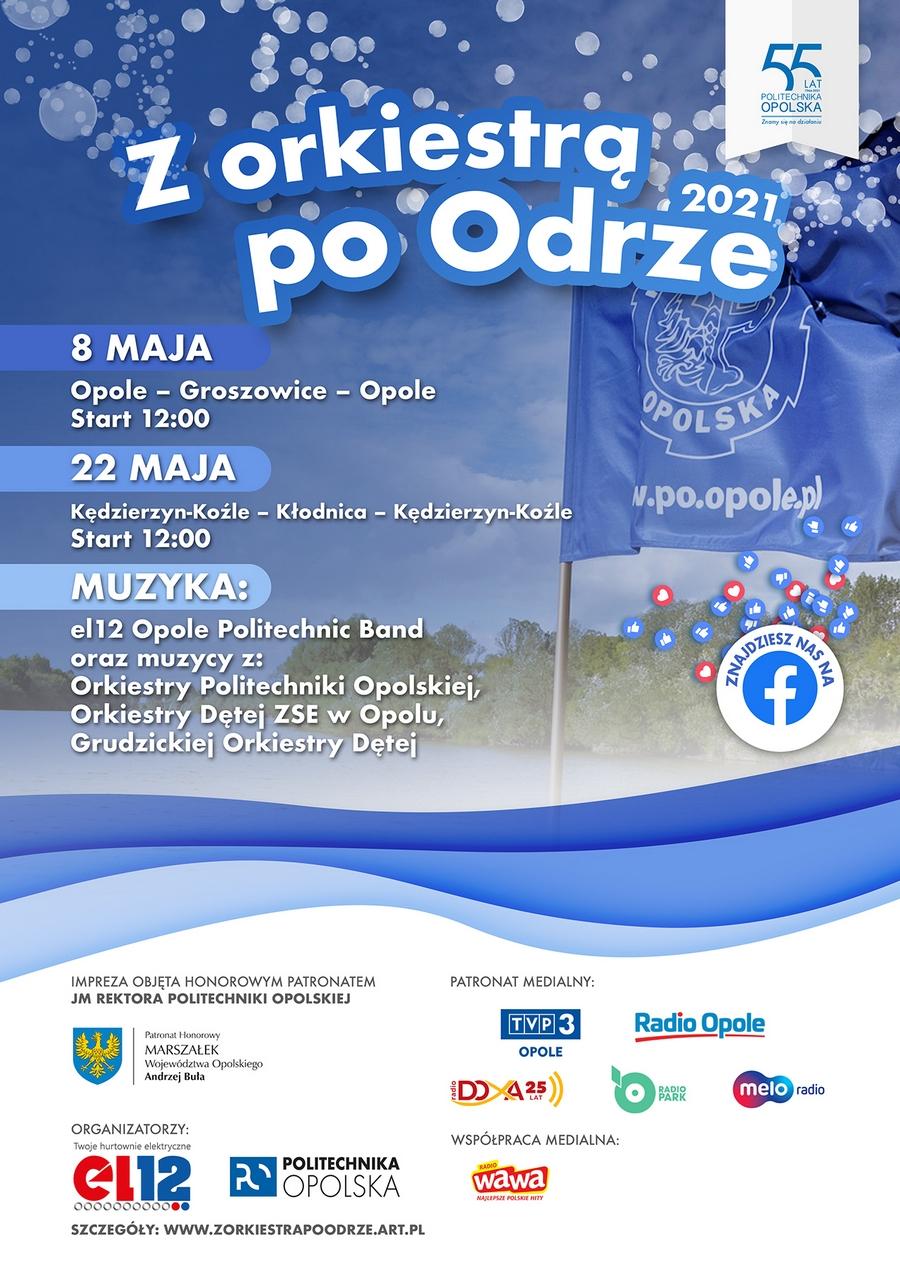 Plakat IX edycji 'Z orkiestrą po Odrze'