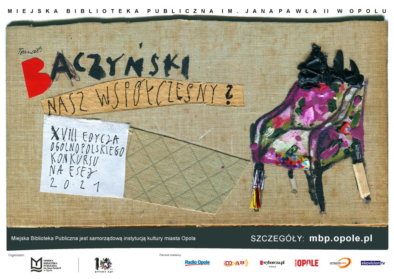 Plakat dotyczący XVIII Ogólnopolskiego Konkursu na Esej