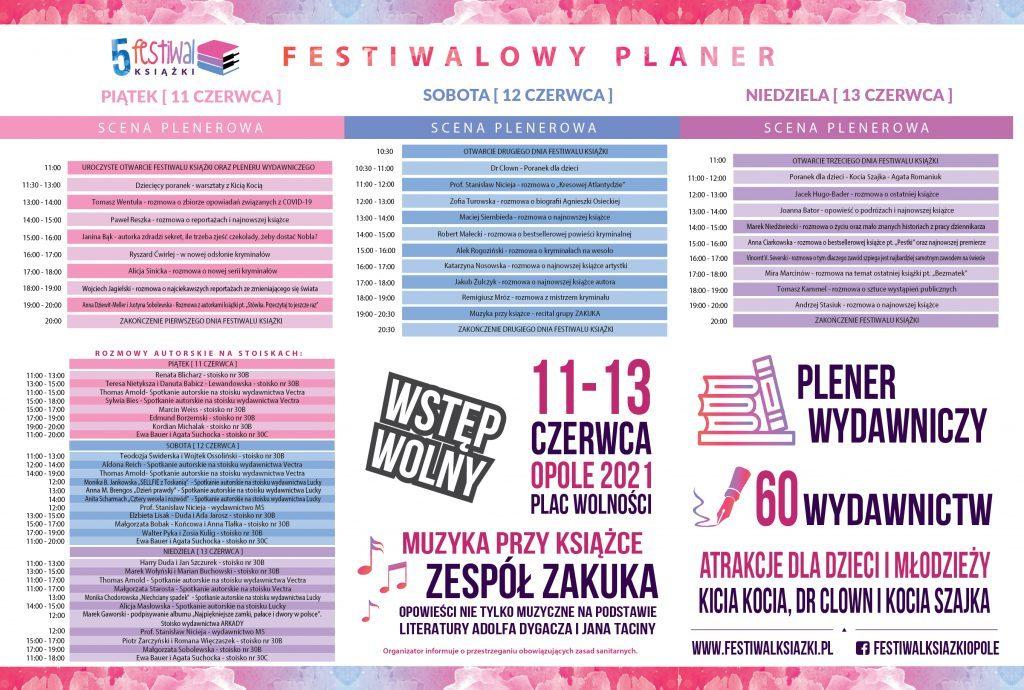 Program 5. Festiwalu Książki Opole 2021