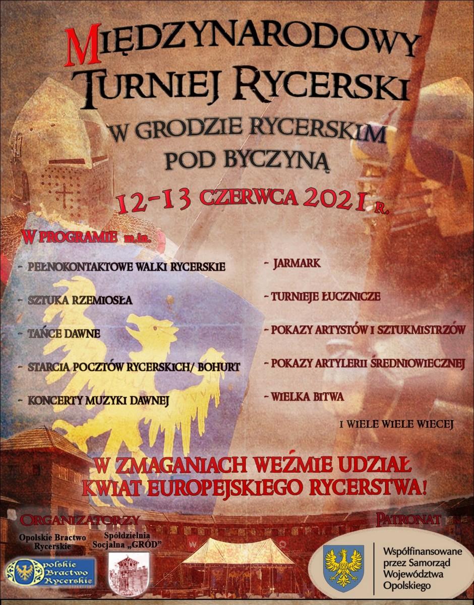 Plakat Międzynarodowego Turnieju Rycerskiego