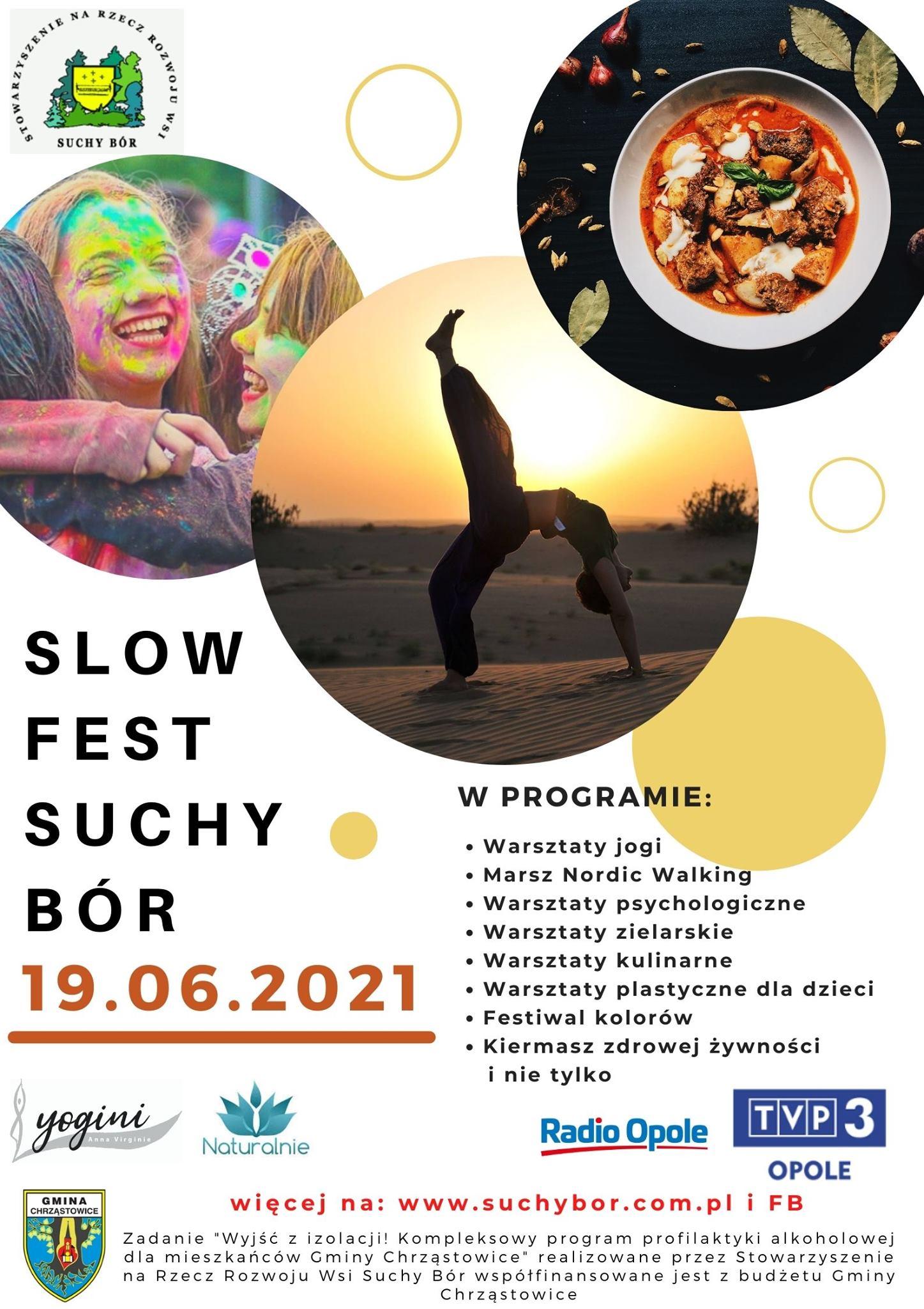 Plakat SLOW FEST Suchy Bór