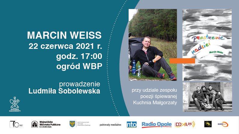 Plakat spotkania z Marcinem Weissem