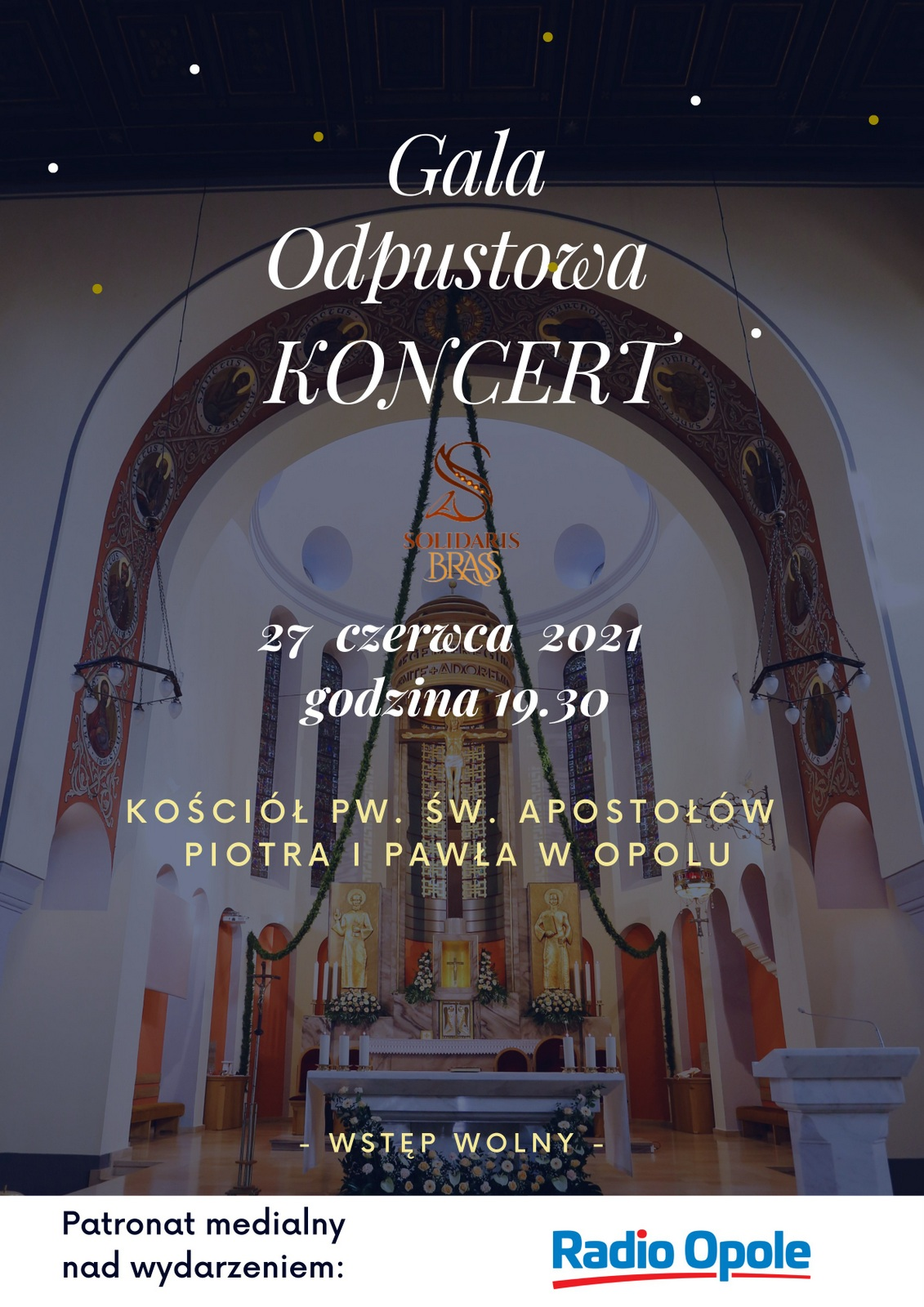 Plakat koncertu 'Gala Odpustowa'