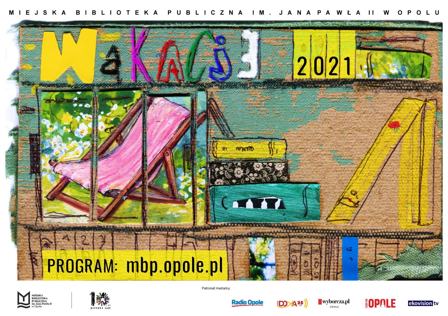 Plakat wakacji w MBP w Opolu