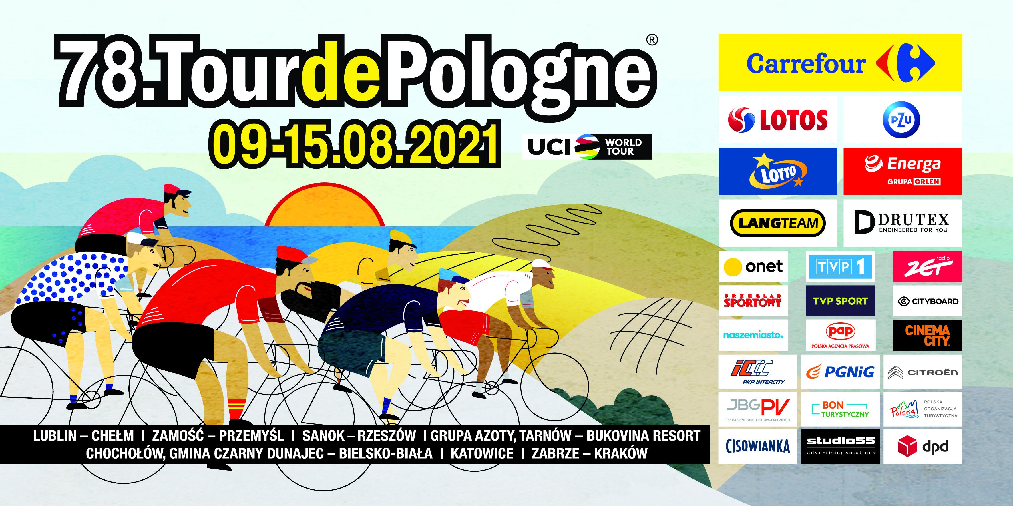 78. Tour de Pologne UCI World Tour: Z Lublina do Krakowa [materiały organizatora]