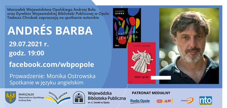 Plakat. Spotkanie z Andrés Barba