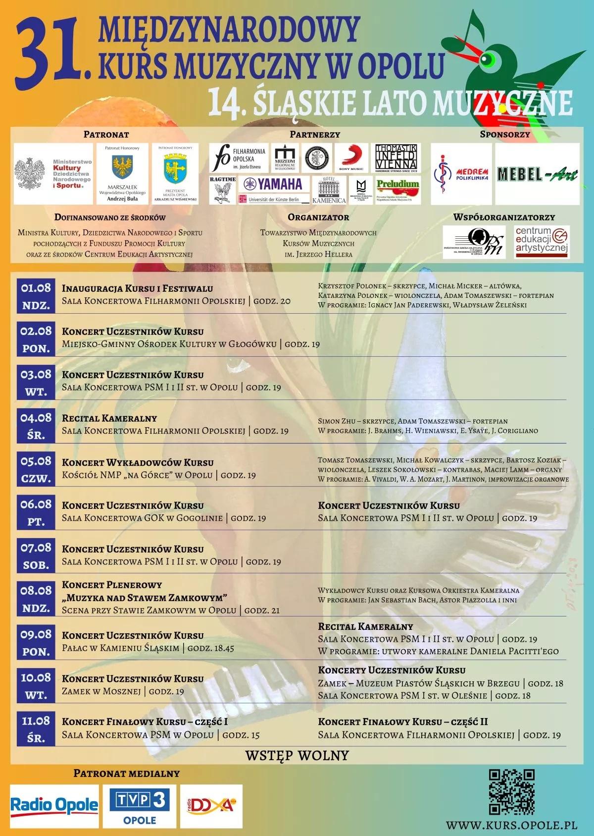 Plakat wydarzenia wraz z programem