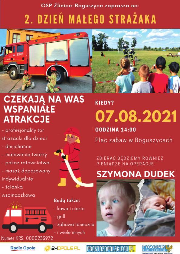 Zbliża się 2. Dzień Małego Strażaka w Boguszycach – poznaj szczegóły! [materiały organizatora]